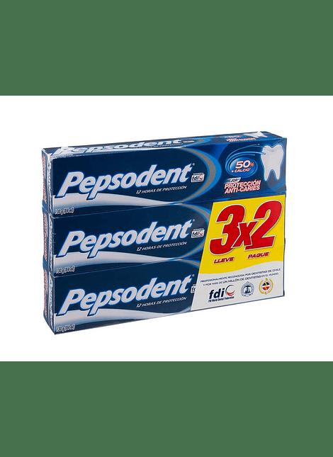 PACK PASTA DENTAL PEPSODENT ANTI CARIES 3X2 130 G