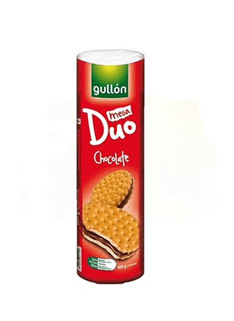 GALLETA MEGA DUO CHOCOLATE GULLON 500 G