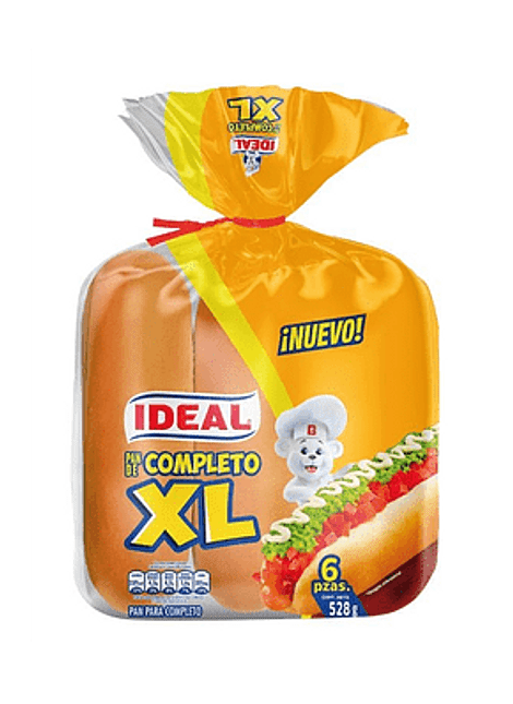 PAN COMPLETO XL IDEAL 6 UN