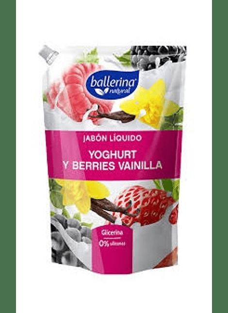 JABON LIQUIDO BALLERINA YOGHURT BERRIES 900 ML
