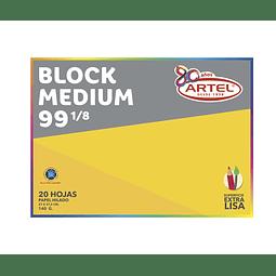 BLOCK MEDIUM 99 1/8 ARTEL 20 HOJAS