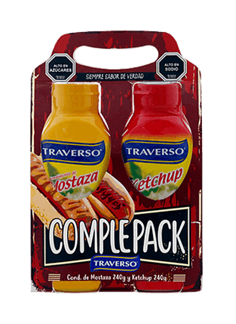COMPLEPACK MOSTAZA Y KETCHUP TRAVERSO 240 G