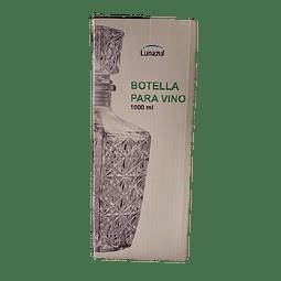 BOTELLA PARA VINO DE VIDRIO LUNA AZUL 1 LT