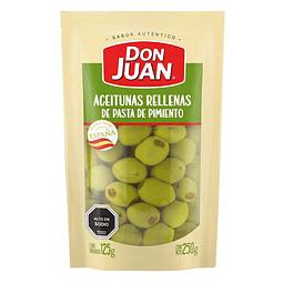ACEITUNAS RELLENAS CON PIMENTON DON JUAN 250 G