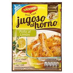BOLSA + SAZONADOR JUGOSO AL HORNO POLLO AL LIMON MAGGI 24 G
