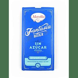 CHOCOLATE BITTER SIN AZUCAR MERELLO 75 G