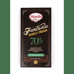 CHOCOLATE BITTER 70% CACAO MERELLO 75 G