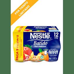 PACK YOGHURT BATIDO TRADICIONAL NESTLE 12 UN