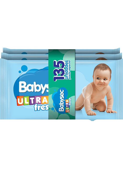 PACK TOALLA HUMEDA BABYSEC ULTRA FRESH 135 UN