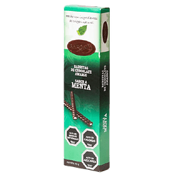 BARRITAS DE CHOCOLATE AMARGO BARONIE MENTA 75 G