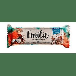 BARRA CEREAL COCO QUINOA AVENA CHOCOLATE SIN AZUCAR EMILIE 20 G