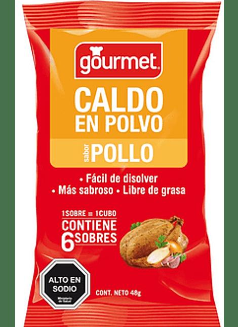 CALDO EN POLVO GOURMET POLLO 6 UN