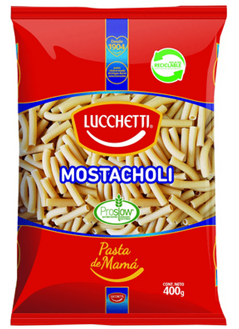 FIDEOS MOSTACHOLI LUCCHETTI 400 G