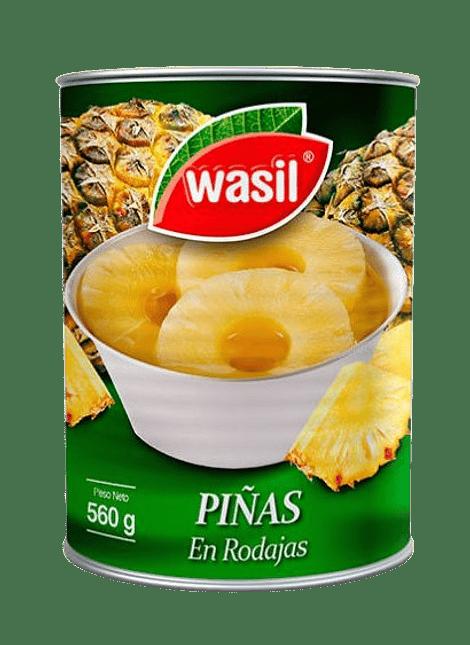PIÑA RODAJAS WASIL 560 G