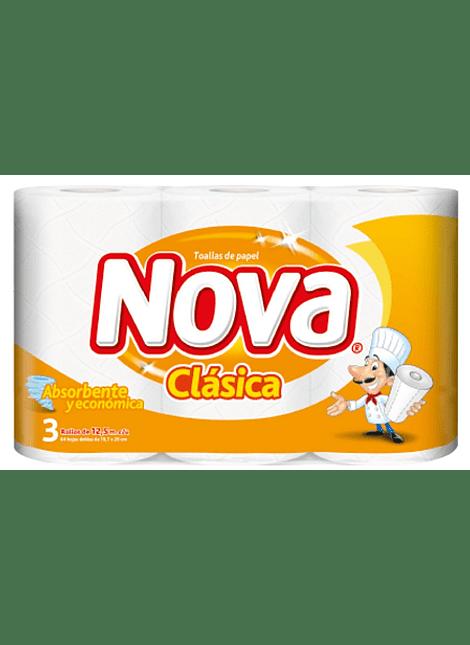 PACK TOALLA PAPEL NOVA CLASICA X 3 UN