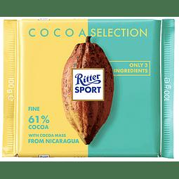 BARRA DE CHOCOLATE 61% CACAO RITTER SPORT 100 G