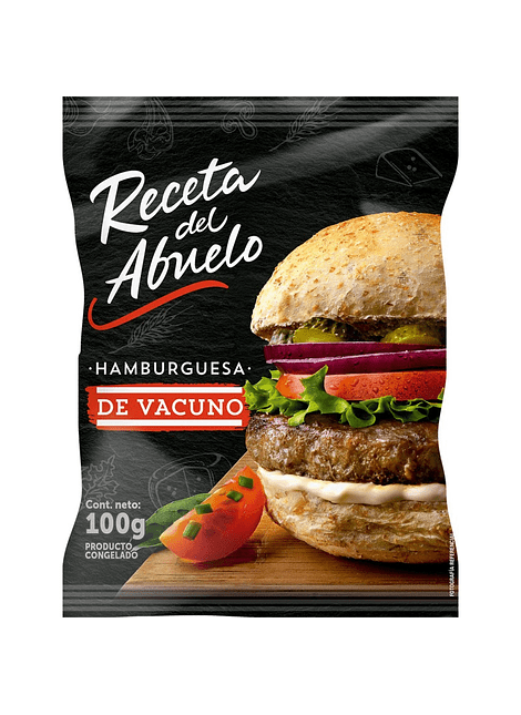 HAMBURGUESA VACUNO RECETA DEL ABUELO 100 G