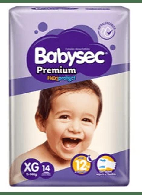 PAÑAL BABYSEC PREMIUM XG 14 UN