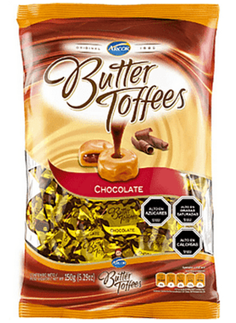 CALUGA BUTTER TOFFEES CHOCOLATE 130 G