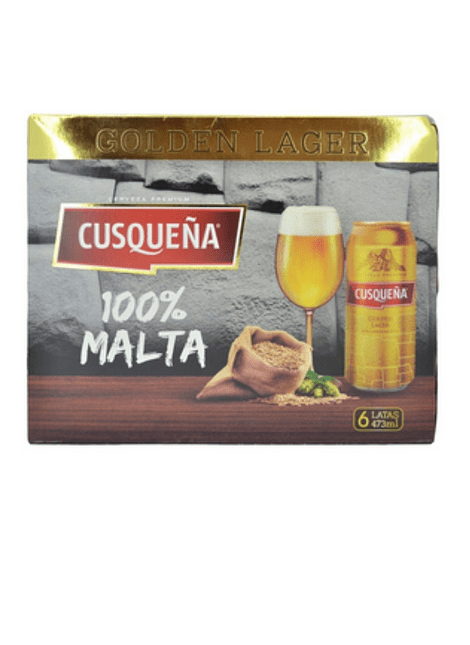 PACK CERVEZA CUSQUEÑA GOLDEN LAGER 6 LATAS