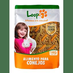 ALIMENTO CONEJO LOOPS 1 KG