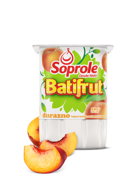 YOGHURT BATIFRUT DURAZNO SOPROLE 165 G