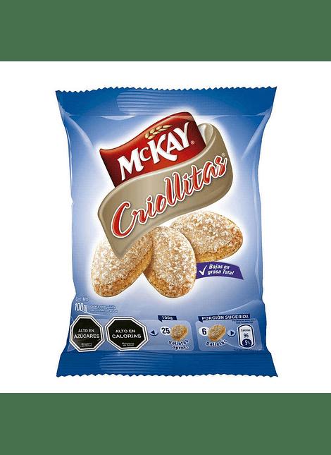 GALLETA CRIOLLITAS MCKAY 100 G