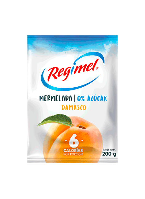 MERMELADA DAMASCO SIN AZUCAR REGIMEL 200 G
