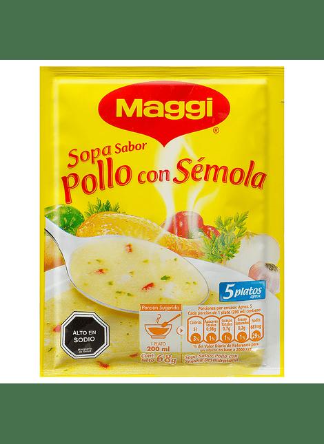 SOPA POLLO CON SEMOLA MAGGI 68 G