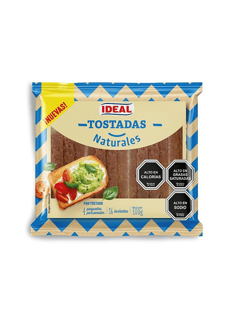 TOSTADAS NATURALES IDEAL 100 G