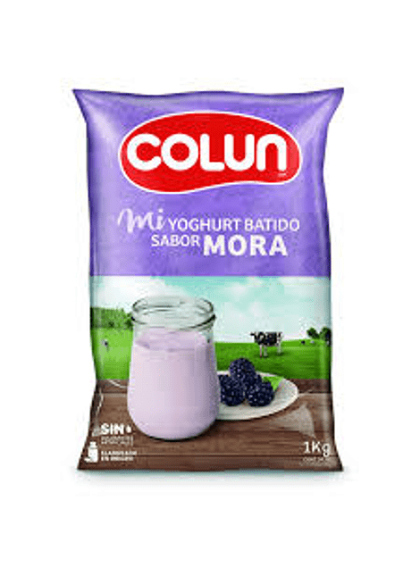 YOGHURT BATIDO MORA COLUN 1 KG