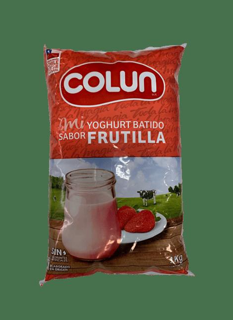 YOGHURT BATIDO FRUTILLA COLUN 1 KG