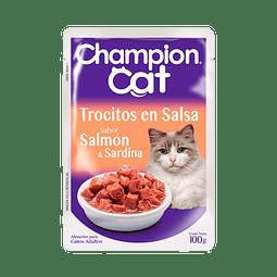 ALIMENTO GATO CHAMPION CAT SALMON 100 G