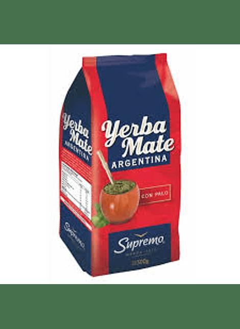 YERBA MATE SUPREMO ARGENTINA CON PALO 500 G