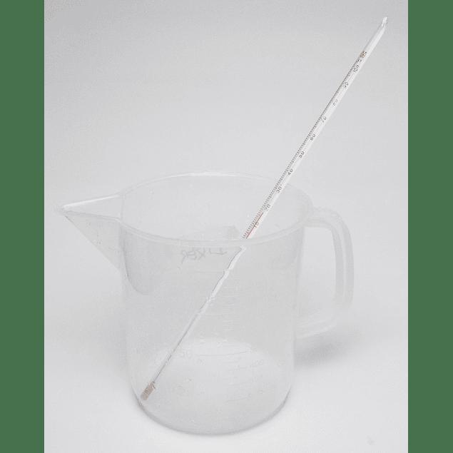 TERMOMETRO DE VARILLA DE VIDRIO ALCOHOL  0-100ºC