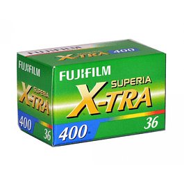 ROLLO PELÍCULA FOTOGRÁFICA COLOR 35MM FUJIFILM SUPERIA X-TRA 400 36 EXP.