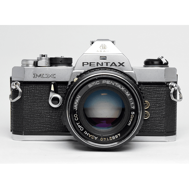 CÁMARA FOTOGRÁFICA REFLEX PENTAX MX ANALÓGICA + LENTE PENTAX 50mm