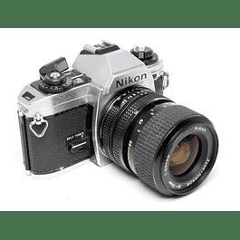 CÁMARA FOTOGRÁFICA REFLEX NIKON FG-20  + LENTE NIKON 35-70mm