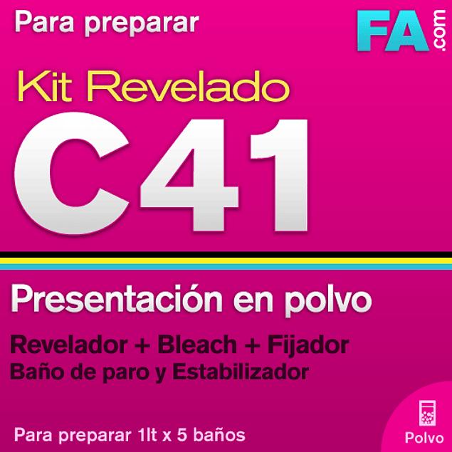 KIT DE REVELADO C-41  -