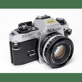 CÁMARA ANÁLOGICA REFLEX NIKON FG-20 + LENTE 50mm f1.8