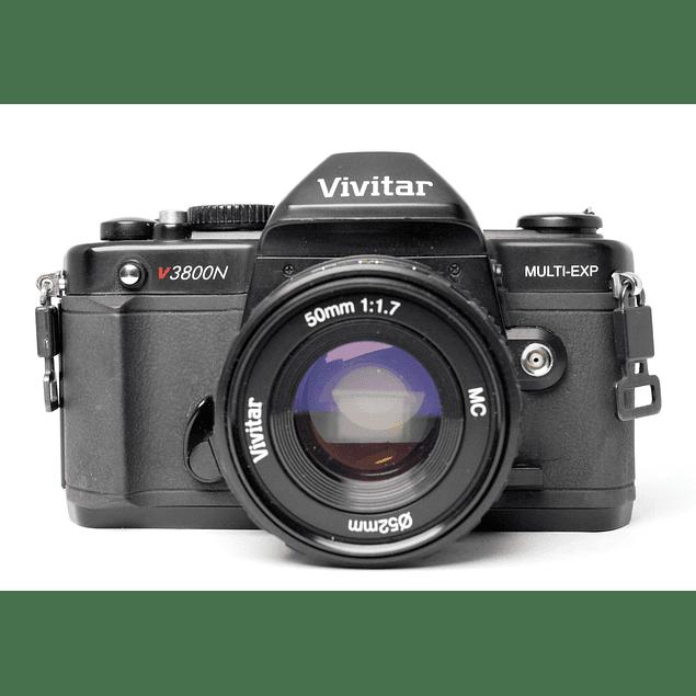 CÁMARA ANALÓGICA REFLEX VIVITAR 3800N  + LENTE 50mm f1.7