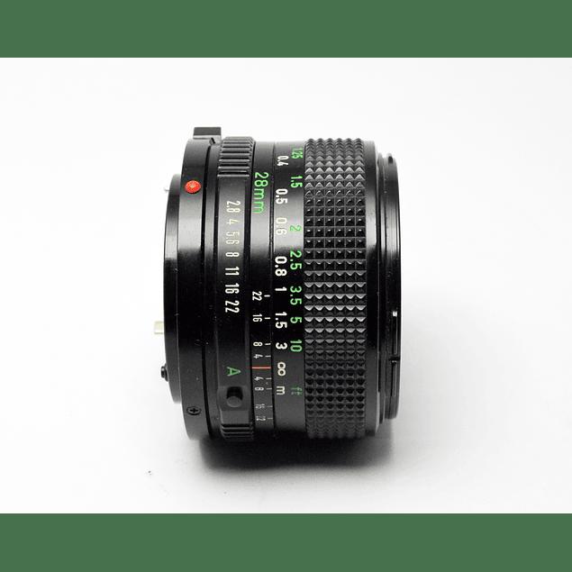 LENTE GRAN ANGULAR CANON FD 28MM f2.8