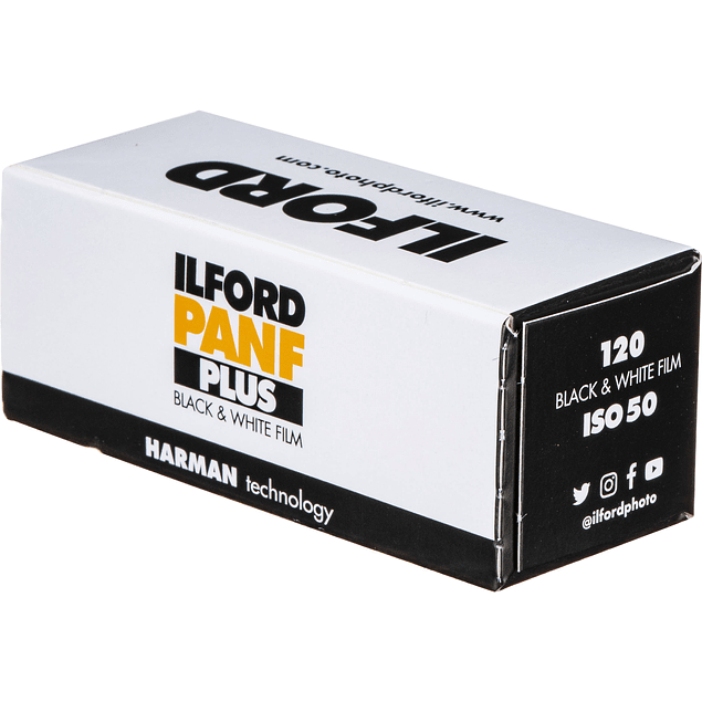 ROLLO 120 BLANCO Y NEGRO ILFORD PANF PLUS