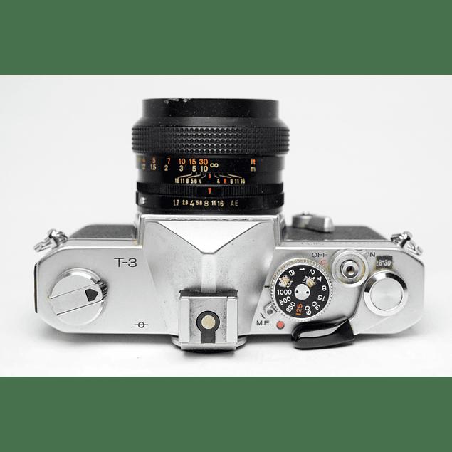 CÁMARA REFLEX ANÁLOGA KONICA AUTOREFLEX T3 + LENTE 50mm f1.7