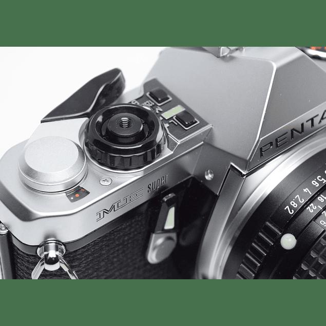 CÁMARA REFLEX ANALÓGICA PENTAX ME SUPER+ LENTE 50mm f2 - 99% NUEVA