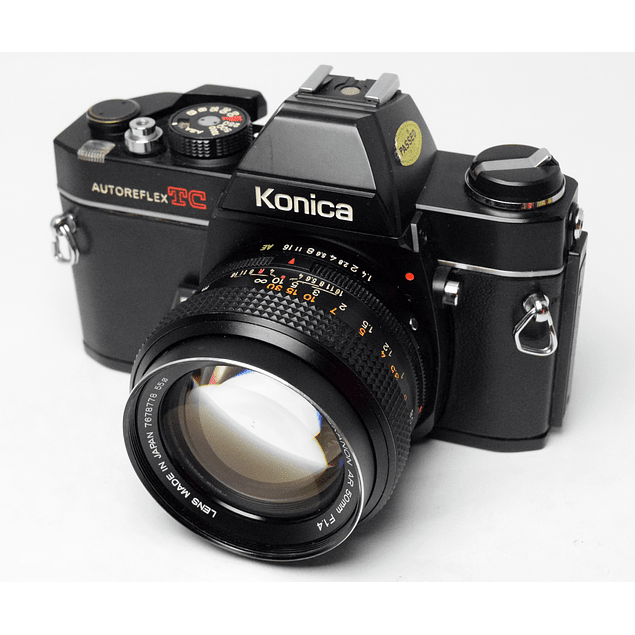 CAMARA ANÁLOGA REFLEX KONICA AUTOREFLEX TC + LENTE KONICA HEXANON 50mm f1.4