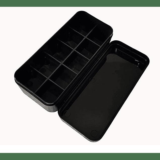 ESTUCHE PLÁSTICO PORTAROLLOS 35mm COLOR NEGRO (Capac. 8 rollos)