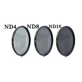 KIT 3 FILTROS DENSIDAD NEUTRA  DIAM. 49mm (ND4, ND8,ND16)