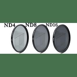 KIT 3 FILTROS DENSIDAD NEUTRA DIAM. 52mm  (ND4, ND8,ND16)