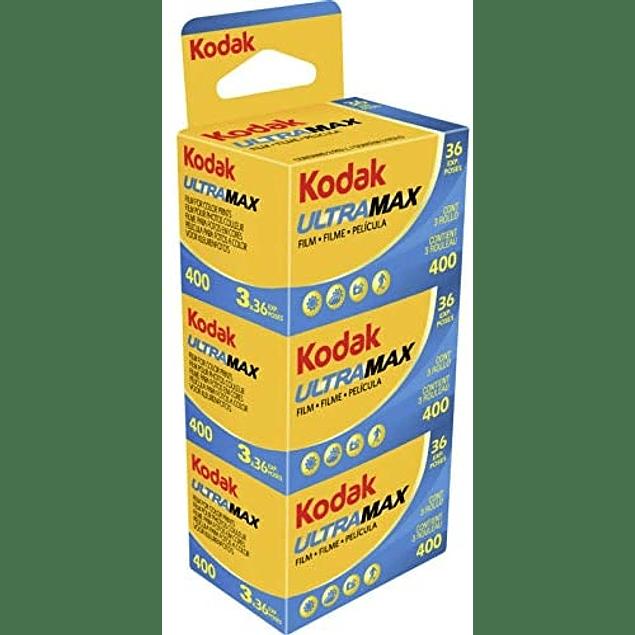 TRIPACK ROLLO COLOR KODAK 400 ULTRAMAX 35mm 36 Exp